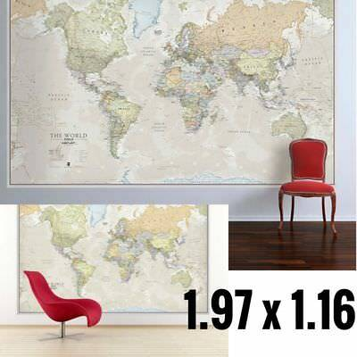 World map poster ye old parchment black framed ready to hang frame huge classic world map for kids big giant wall print large wallpaper laminated gumiabroncs Images