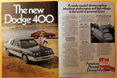 1982 Magazine Print Ad  for a Dodge 400