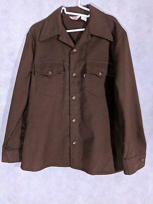 Levis Big E Vintage 60s Black Tab Sta Prest Snap Button Light Jacket Medium