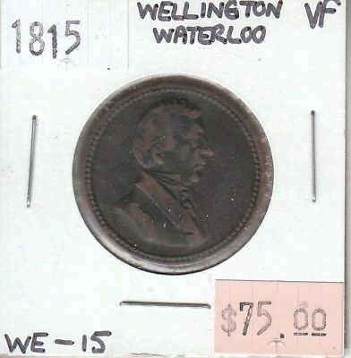 Wellington Waterloo 1815 Token VF Very Fine