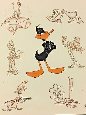 Rare Warner Brothers Daffy Duck Laminated Cel Promo Binder Page Daffy Persona