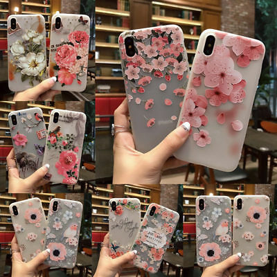 3D Slim Cute Rubber Soft Silicone Flower Girl Phone Case For iPhone X 6 7 8 Plus