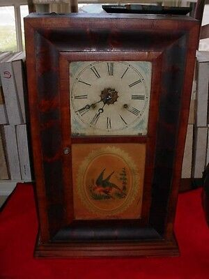 1800's Antique Weighted Large Clock Rare New Haven Clock Co. Very Old Estate