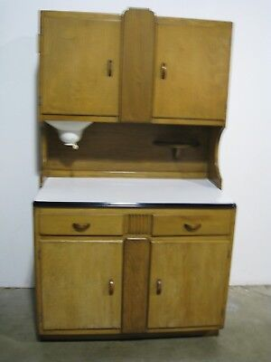 ANTIQUE EARLY 1900u0027S Sellers Kitchen Hoosier Maple Cabinet W/Porcelain Top    $498.00 | PicClick