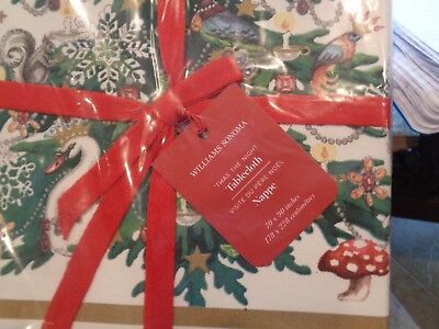Williams Sonoma Holiday Twas the night before Christmas tablecloth 70 90 New