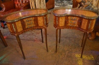 LouisXV Kidney Shaped Side Tables French