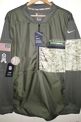 super popular 2f152 091e1 NFL SEATTLE SEAHAWKS Nike Salute to Service Jersey Hybrid Jacket XL NEW  $110.00