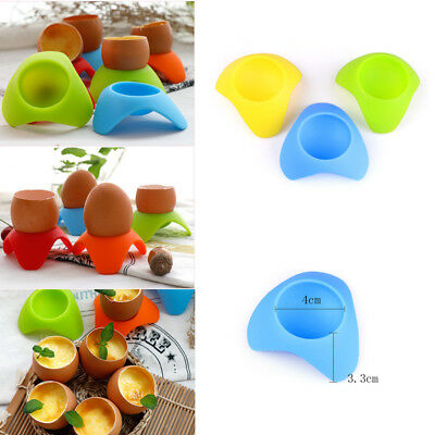1Pcs Silicone Egg Storage Cup Box Eggs Holder Egg Boiled Stand Cups Cooker Tools