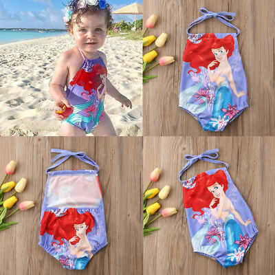 AU Newborn Baby Kids Girls Bikini Set Bathing Suit Swimwear Swimsuit Mermaid