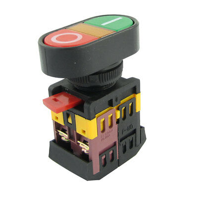 ON-OFF Push Button w Light Indicator Momentary Switch AC 600V 10A