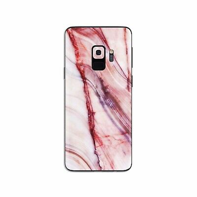 Samsung Galaxy Skin STICKER Note 5 7 8 S6 edge S7 S8 S9 Plus Red Marble SS037