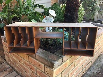 Vintage Handcrafted Wooden Pigeonhole Compartment Filling Unit - Cabinet