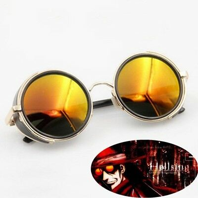 Anime Cosplay Glasses HELLSING Alucard Vampire Hunter Tailored Orange Sunglasses