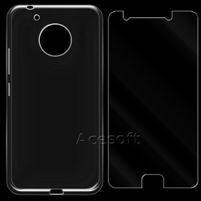 Anti-Shatter Tempered Glass Screen Protector + Case for Motorola Moto E4 XT1765