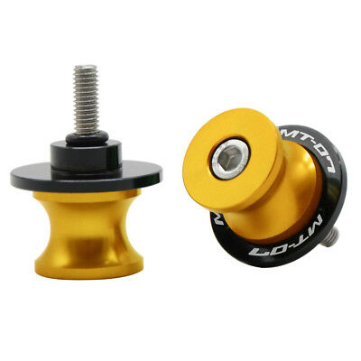 LANQIAN CNC 6MM Swingarm Spools Slider Stand  Bobbins For Yamaha MT-07