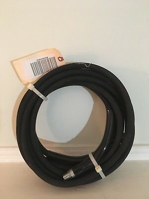 "Eaglewash Wrapped Black Modified Nitrile Pressure Washer Hose 3/8"" 25' Length"