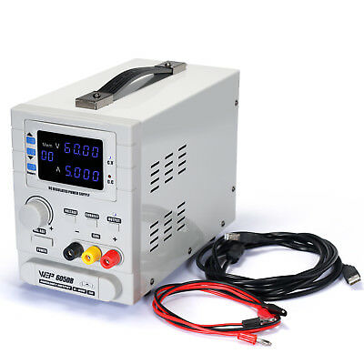 WEP-605DB Precision Adjustable 60V 5A Regulated  DC Bench Linear Power Supply