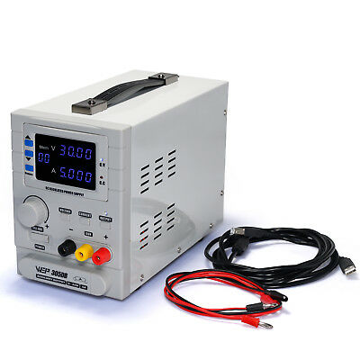 Wep-305Db Precision Adjustable Variable 30V 5A Regulated Bench Dc Power Supply