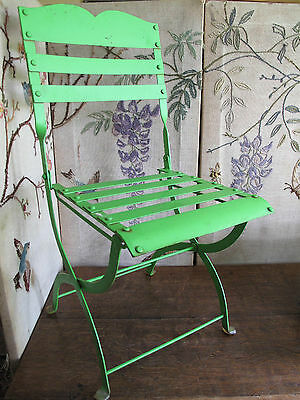 childs chair vintage french cafe style metal folding chair