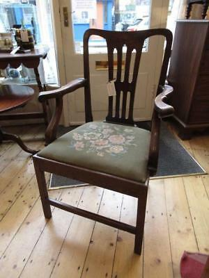 Georgian or Victorian Oak Arm Chair