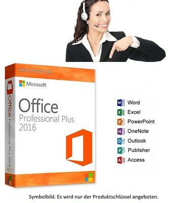 MS Microsoft Office 2016 Professional Plus - Vollversion Business - Pro SUPPORT
