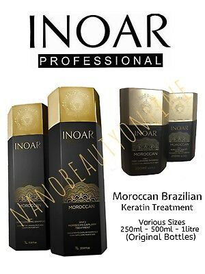 Inoar Moroccan Brazilian Keratin Treatment Blow Dry Hair Straightening All Sizes