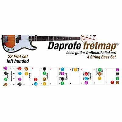 General Accessories LEFT HANDED Bass Guitar Fretboard Note Map