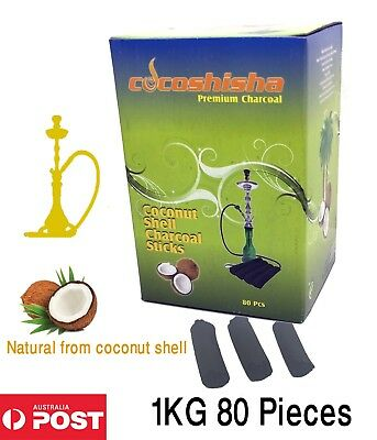 CocoShisha shisha hookah Incense Natural coconut charcoal coal fingers 1KG 80pcs