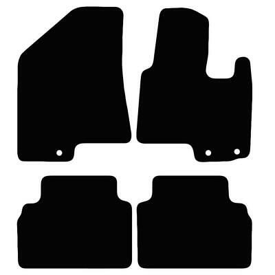 Tailored Black Car Floor Mats Carpets 4pc Set with Clips for Hyundai iX35