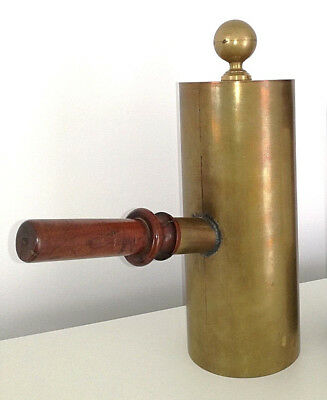 Antique French 1900 medical ear aid device hearing stethoscope brass wood