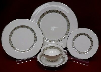 LENOX china SPRINGDALE pattern 5-pc Place Setting cup/saucer/dinner/salad/bread