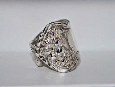 Arbutus 1908 Vintage Silver Spoon Ring
