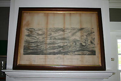 Civil War 1863 GETTYSBURG w/Birdseye View Map Confederate Union Army Free Ship