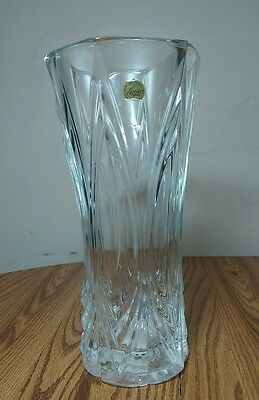 Cristal d' Arques 24% Genuine Lead Crystal Vase -Chatelet -Made in France 11.75""