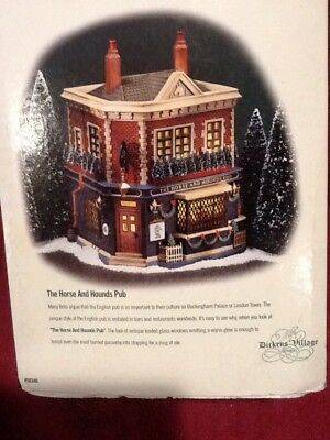 Dept 56 Dickens Village - The Horse and Hounds Pub - #58340 - EUC