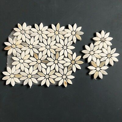 Calacatta Marble Mosaic Flower Design Tiles Backsplash / Floor / Wall Sample