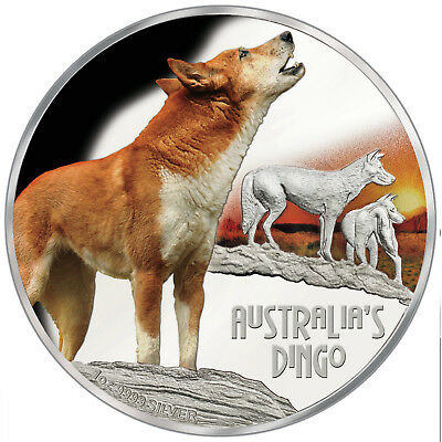 Tuvalu 2018 Deadly & Dangerous Dingo Howling at Sunset Wild Dog $1 Silver Proof