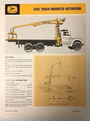 John Deere Truck-Mounted Rotoboom sales brochure from 1967