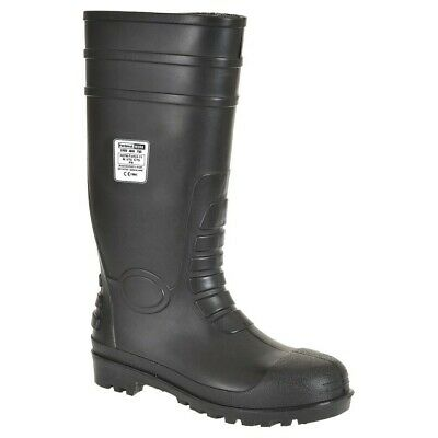 Portwest FW95 Mens Work PVC Steel Toe Safety Boots, 100% Waterproof - NEW!