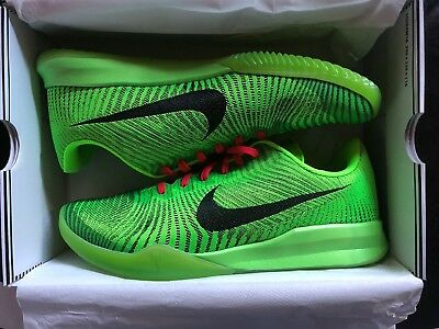official photos 78988 bf8b1 Nike Kobe KB Mentality II Grinch Christmas Electric Green Size 12 New With  Box