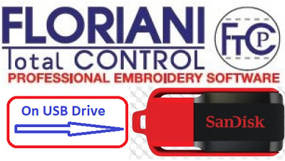 Floriani Total Control 7 Full version - Embroidery Software =on USB Drive=