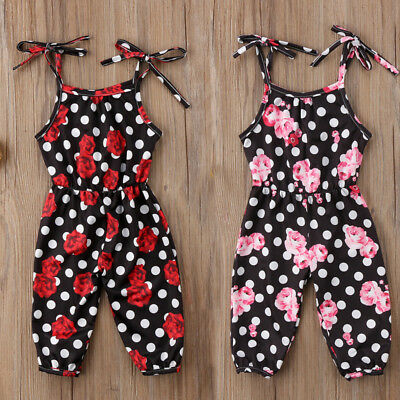 UK Newborn Baby Girls Clothes Floral Romper Jumpsuit Playsuit Summer Outfits