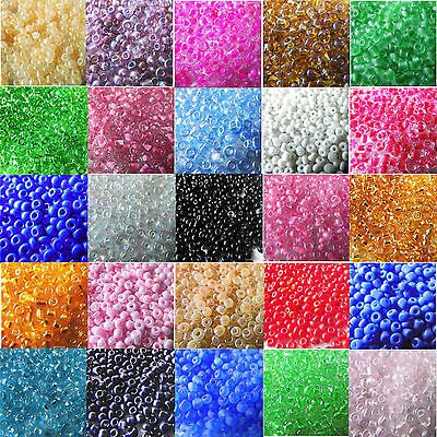 2000/4000 Pcs 2mm Czech Glass Seed Spacer Beads Jewelry Making DIY Finding Craft