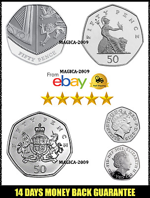 50p Coin Fifty Pence Coins 1997 to 2017 Great Condition Full Collection Freepost