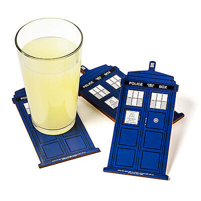 Licensed Doctor Who TARDIS Coasters (set of 4)  **Brand New**  AUSTRALIAN