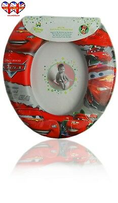 Disney Pixar Cars Kids Soft Padded Potty Toilet Training Seat Official Licensed