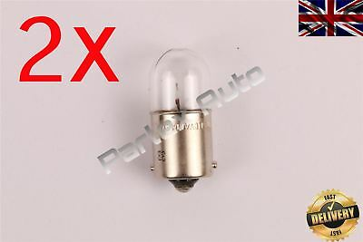 2X 12V 5W Tail Sidelight Number Plate Car/Auto Light Bulbs (207 R5W) BA15S