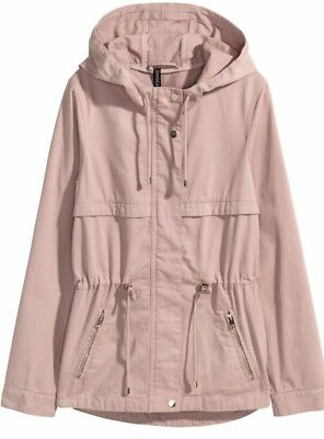 new style c8591 27b27 B 48 # H&M Short parka with a hood SIZE UK 8 RRP £34.99