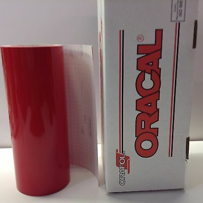 "Oracal 651, 1 Roll 12"" x 10  feet  Red #031 Vinyl for Craft,Sign,Cutter"