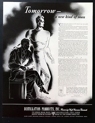 1941 Vintage Print Ad DISTILLATION PRODUCTS Vitamin Health Art